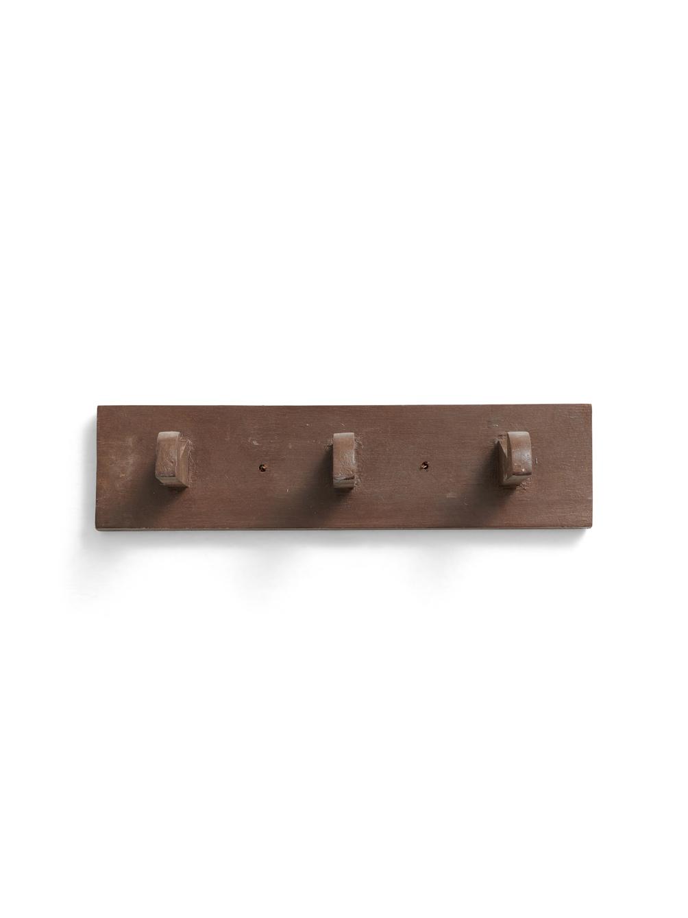 Brown Peg Rack Reclaimed Wood