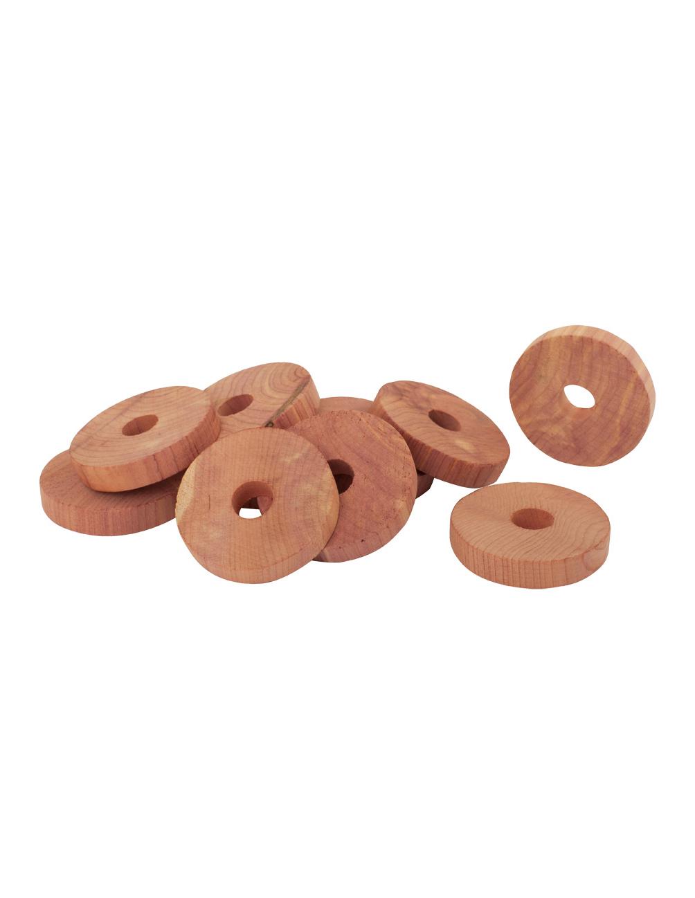 Cederträ Ringar 10-pack