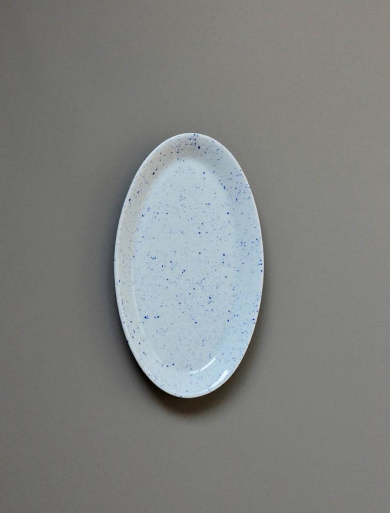 Pure Stain Blue Oval Plate 25cm