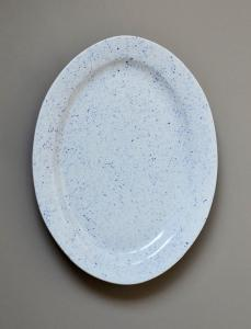 Pure Stain Blue Oval Plate 37cm