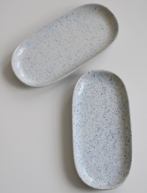 Pure Stain Blue Oval Plate 19,5cm