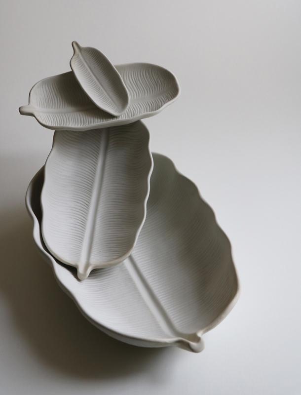 Dekorationsfat Bananblad Stor