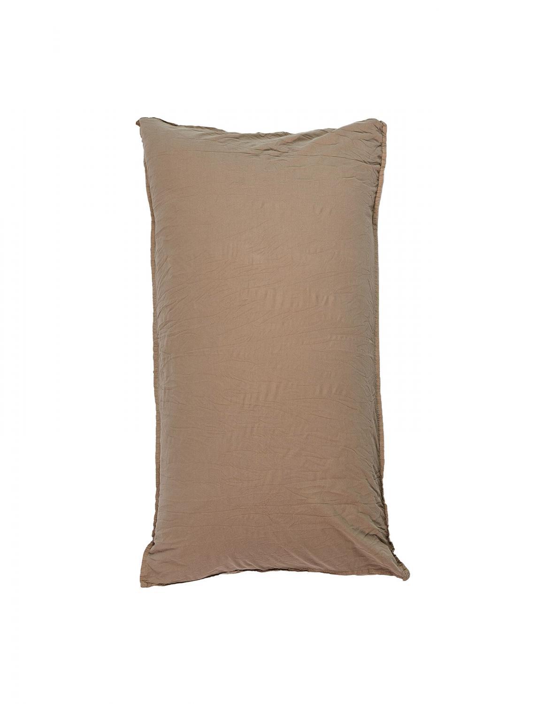50x90cm Pillowcase Crinkle Nutmeg