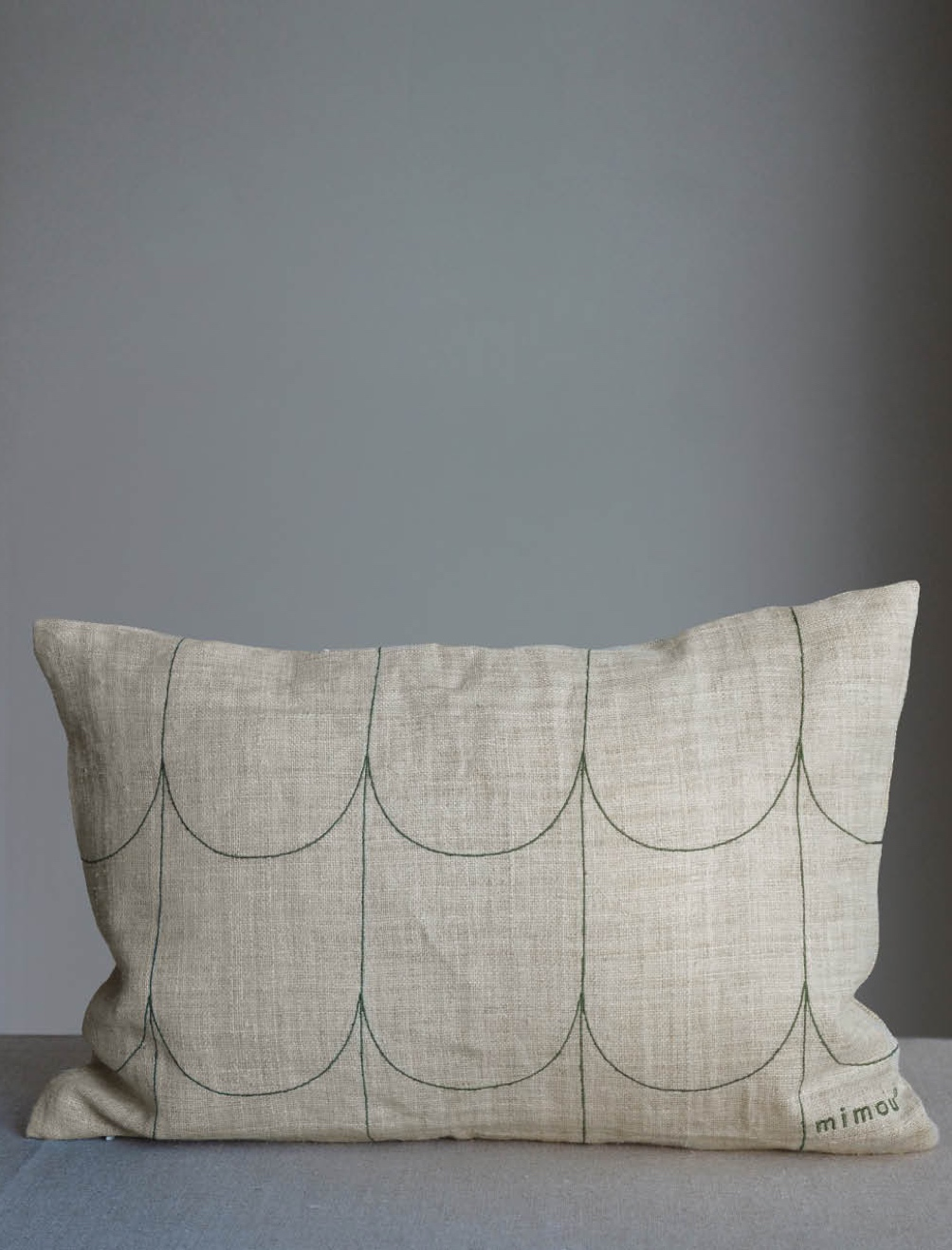 Arc Cushion Hemp Green 30x50cm