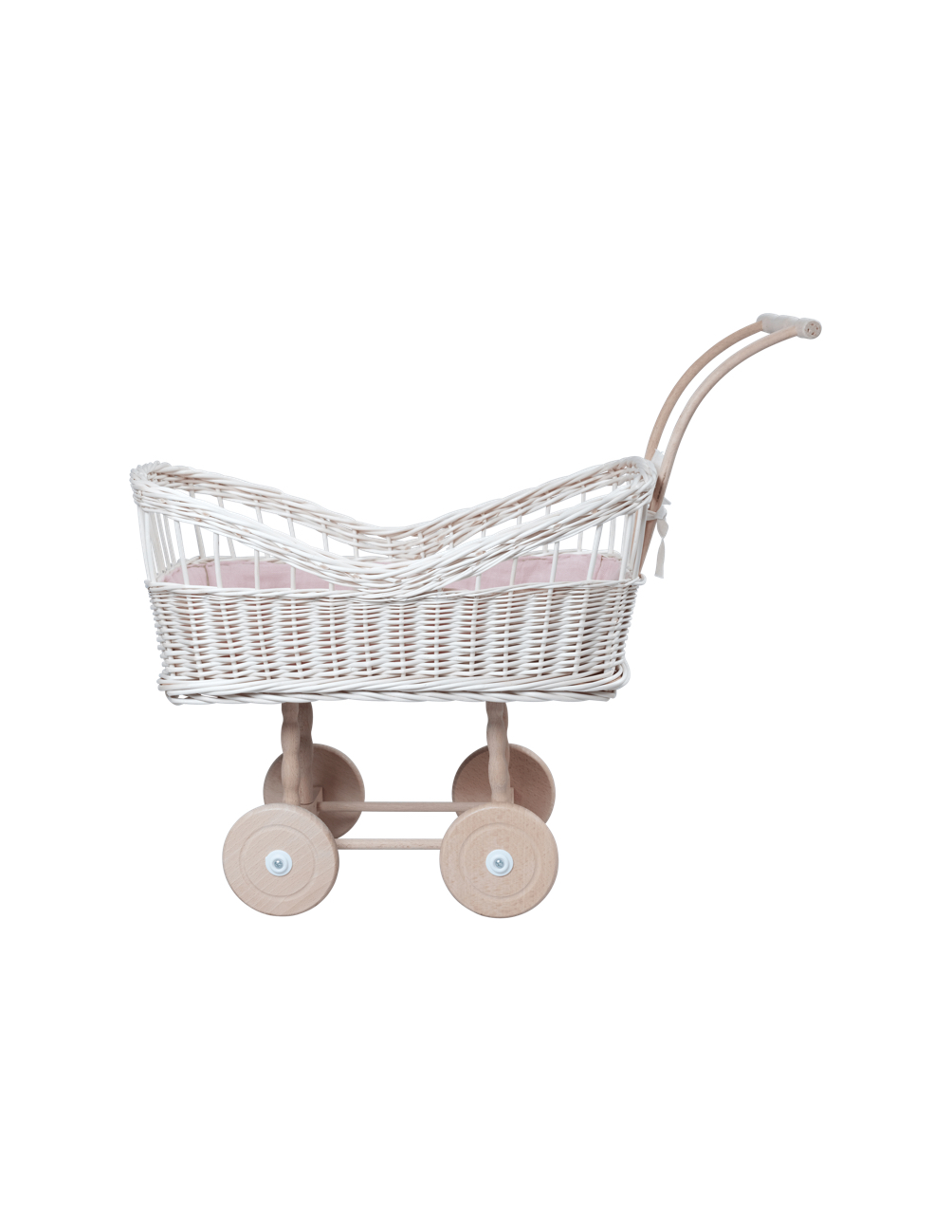White Wicker Doll Pram