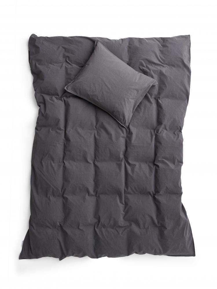 Duvet Cover Set Crinkle Dark Grey