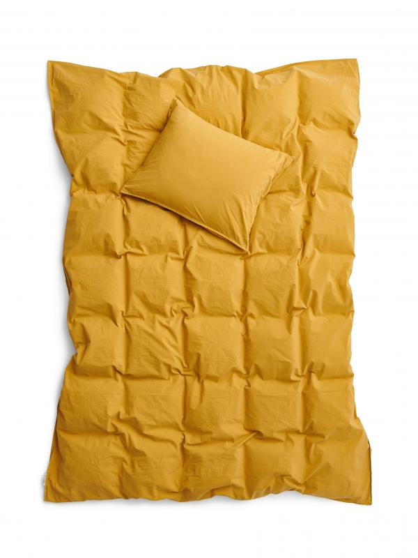 Duvet Cover Set Crinkle Mustard Gold