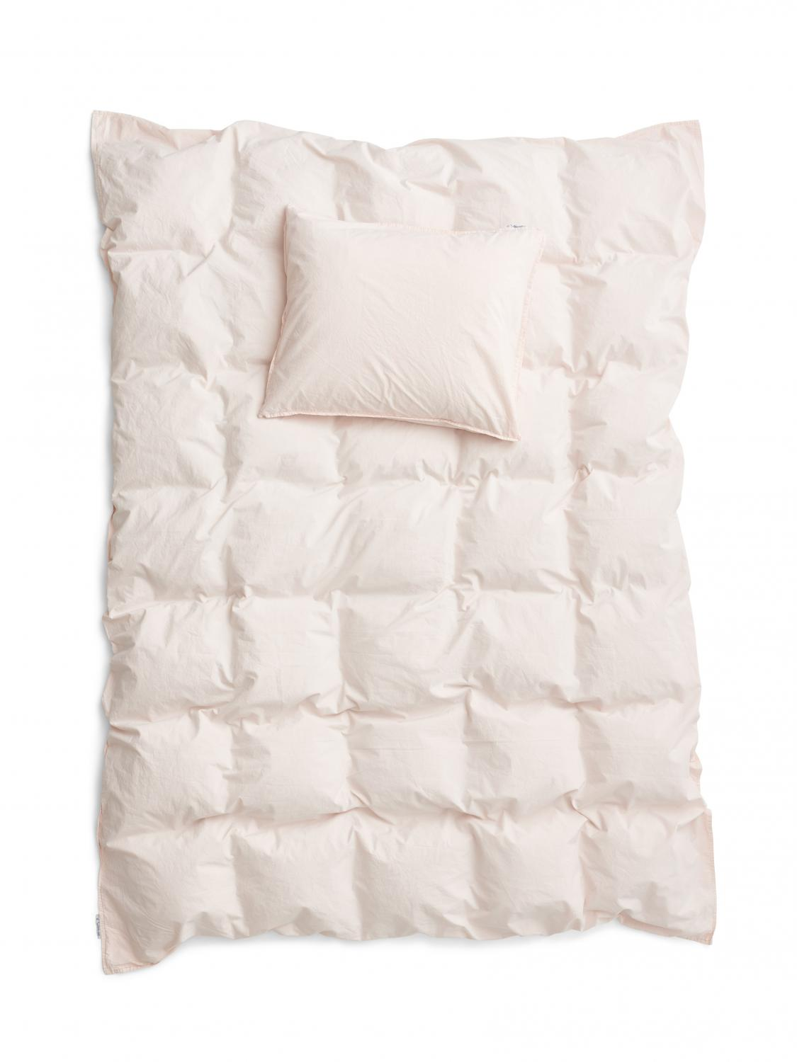 Duvet Cover Set Crinkle New Pale Pink