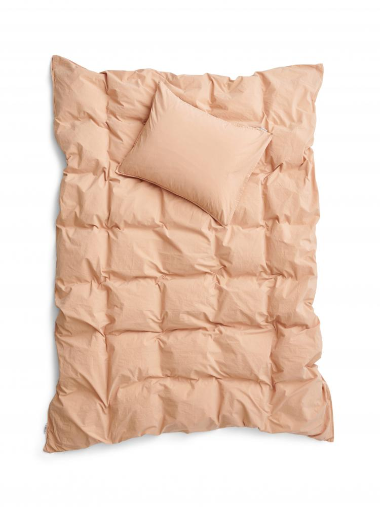 Duvet Cover Set Crinkle Peach Pink