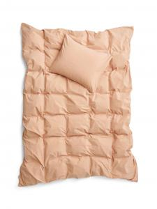 Duvet Cover Set Crinkle Peach Pink