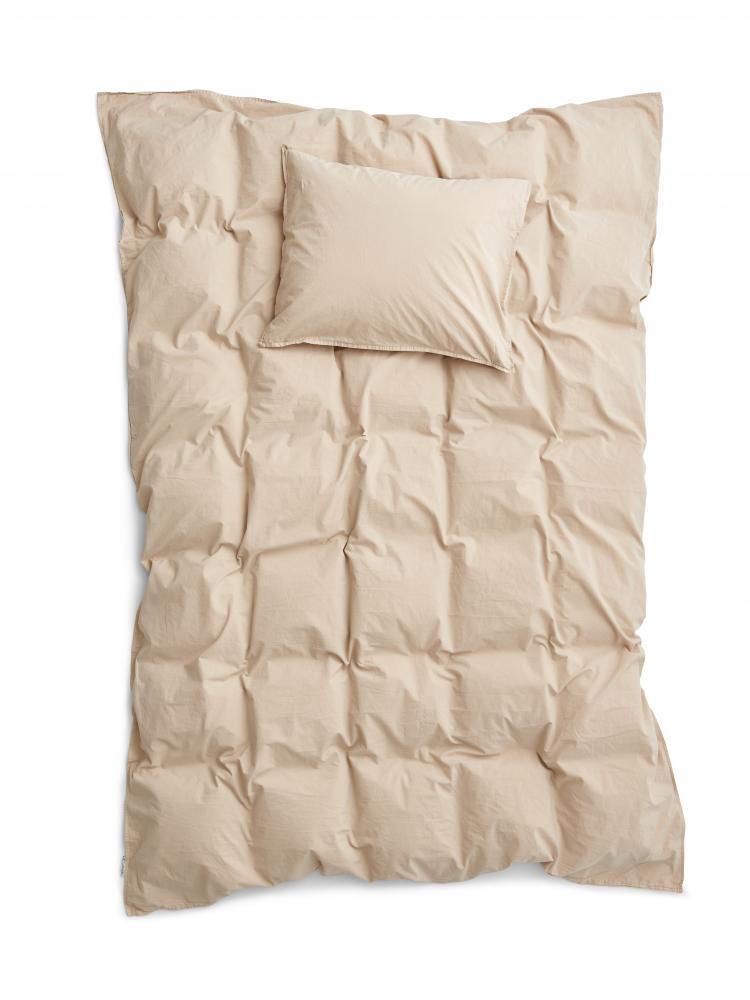 Duvet Cover Set Crinkle Sand