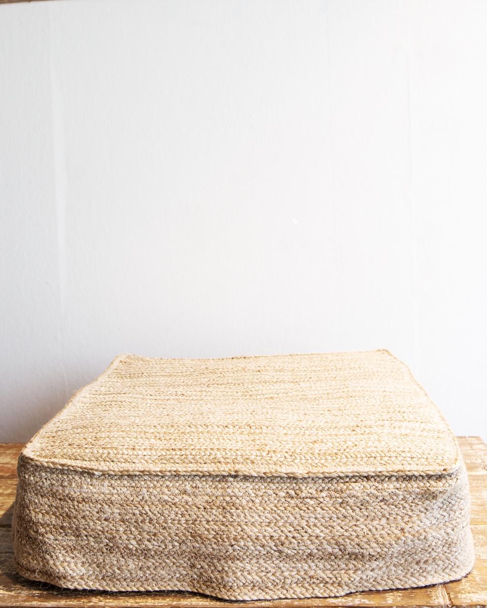 Jute Floor Pillow Cover