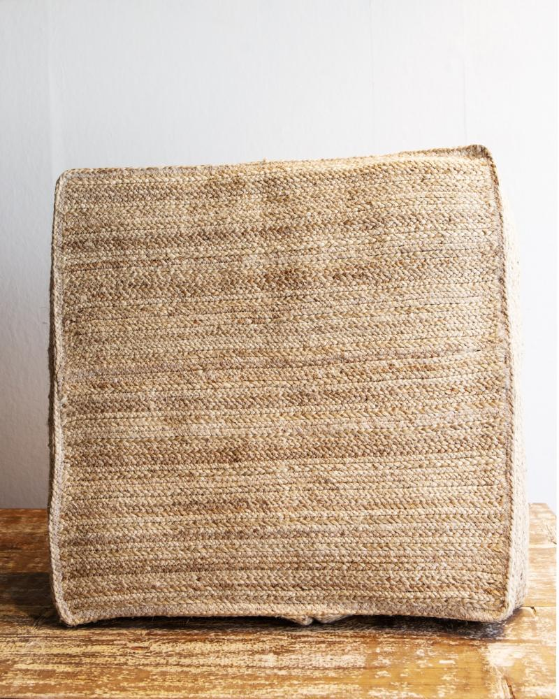 Jute Floor Pillow Cover