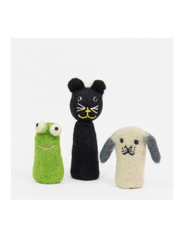 Felt Cat Fingerdolls 3-pack