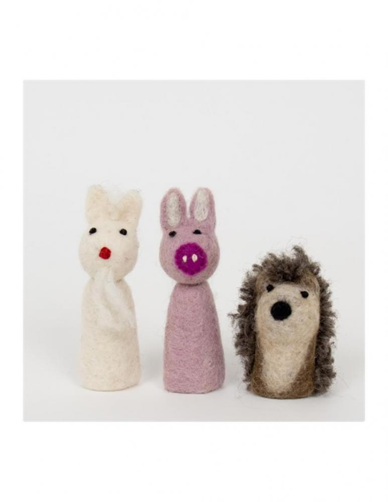 Felt Hedgehog Fingerdolls 3-pack
