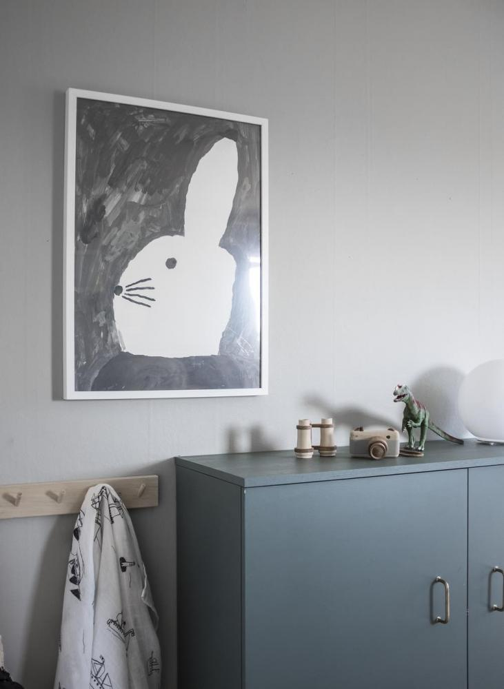 Rabbit whit small hat poster