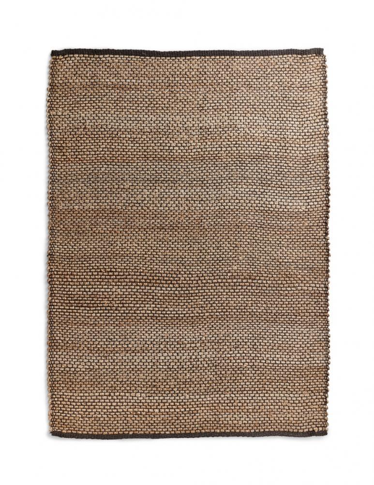 Jute Braiding Rug Black Pattern 180x240cm