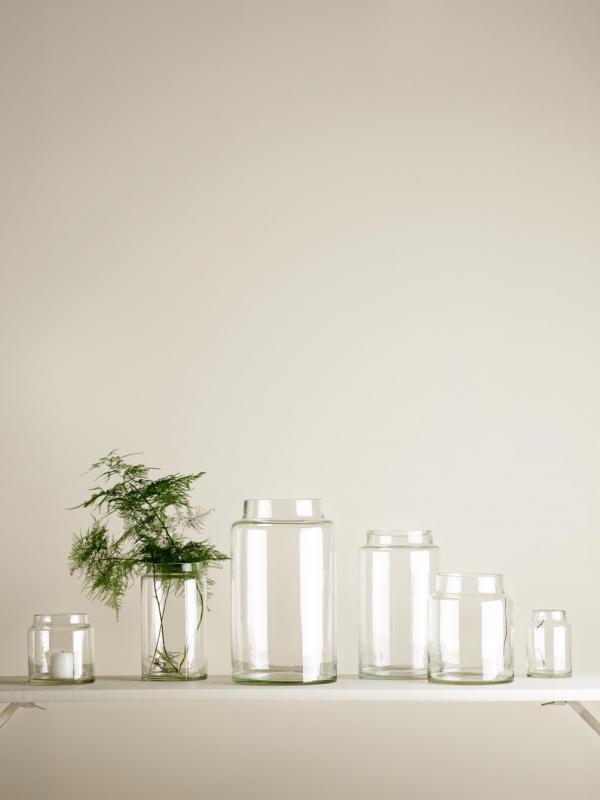 Low Glass Jar