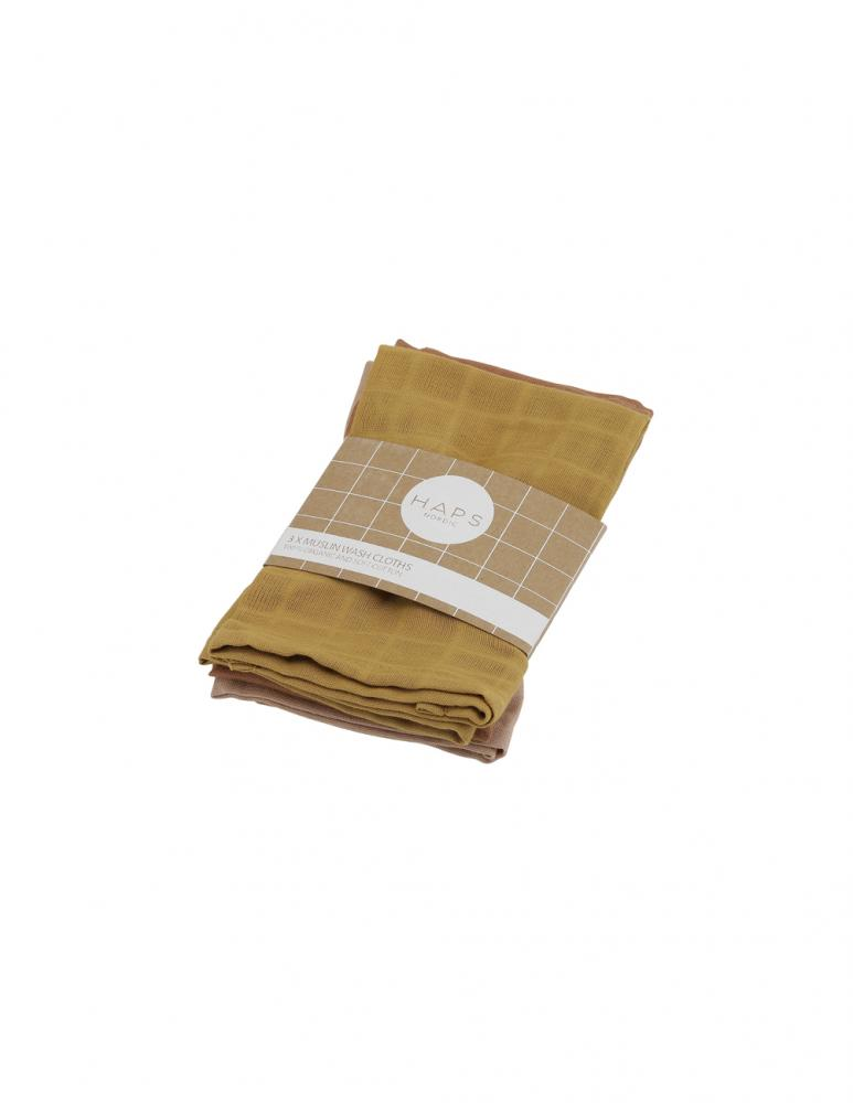 Sui Muslin Wash Cloths Warm
