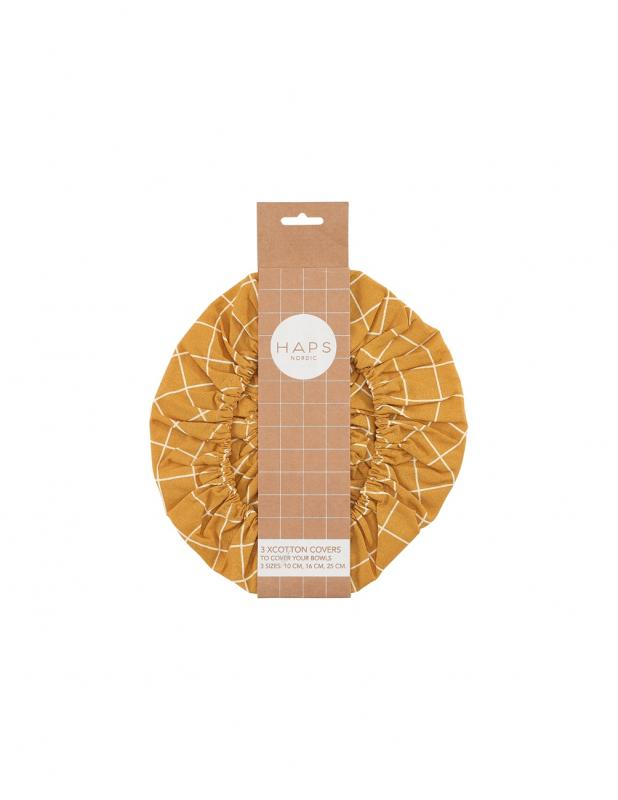 Cotton Covers Mustard 3-pack