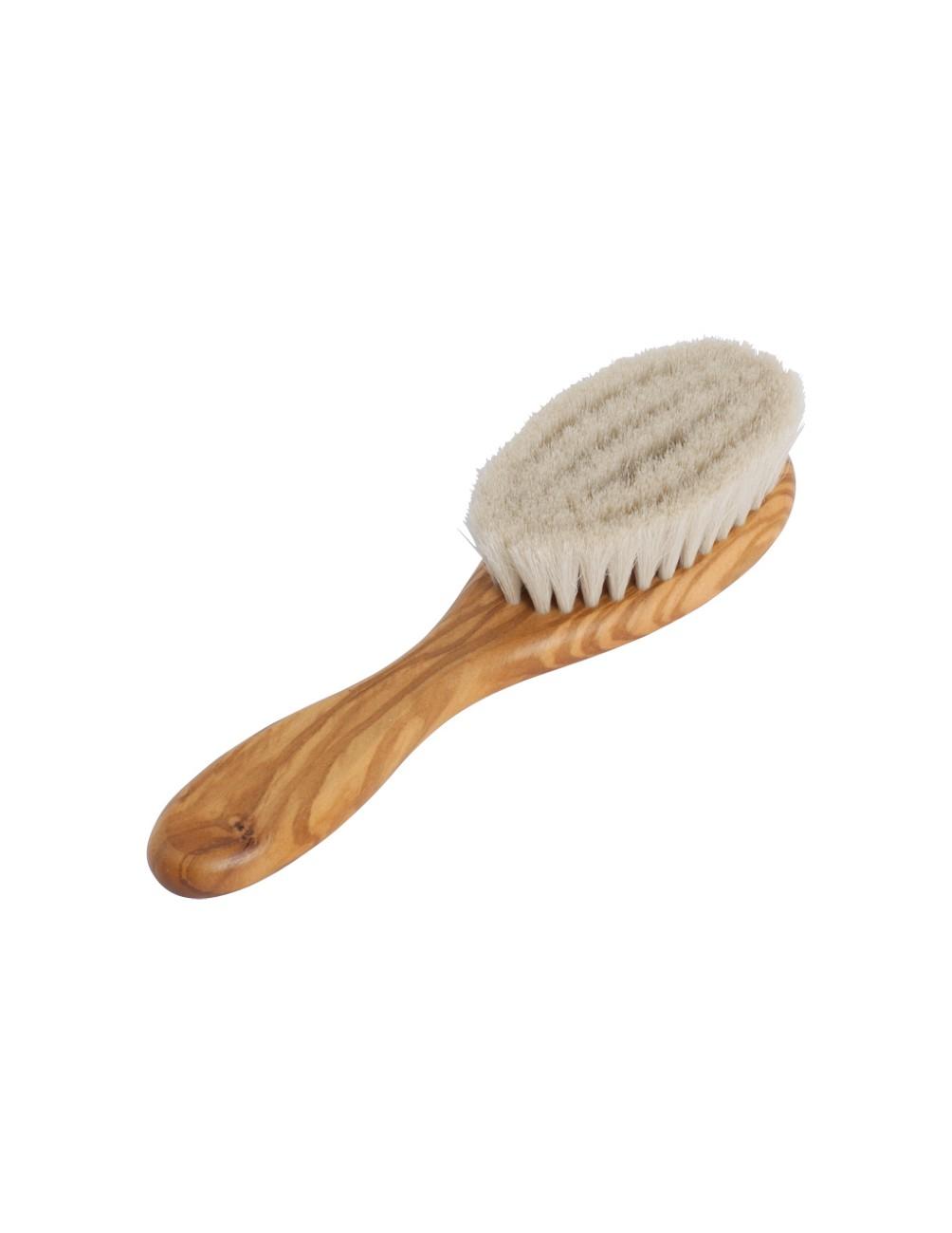 Hairbrush Baby Olive Wood