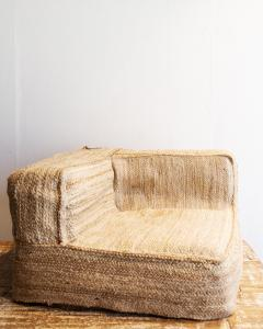 Jute Corner Floor Pillow Cover