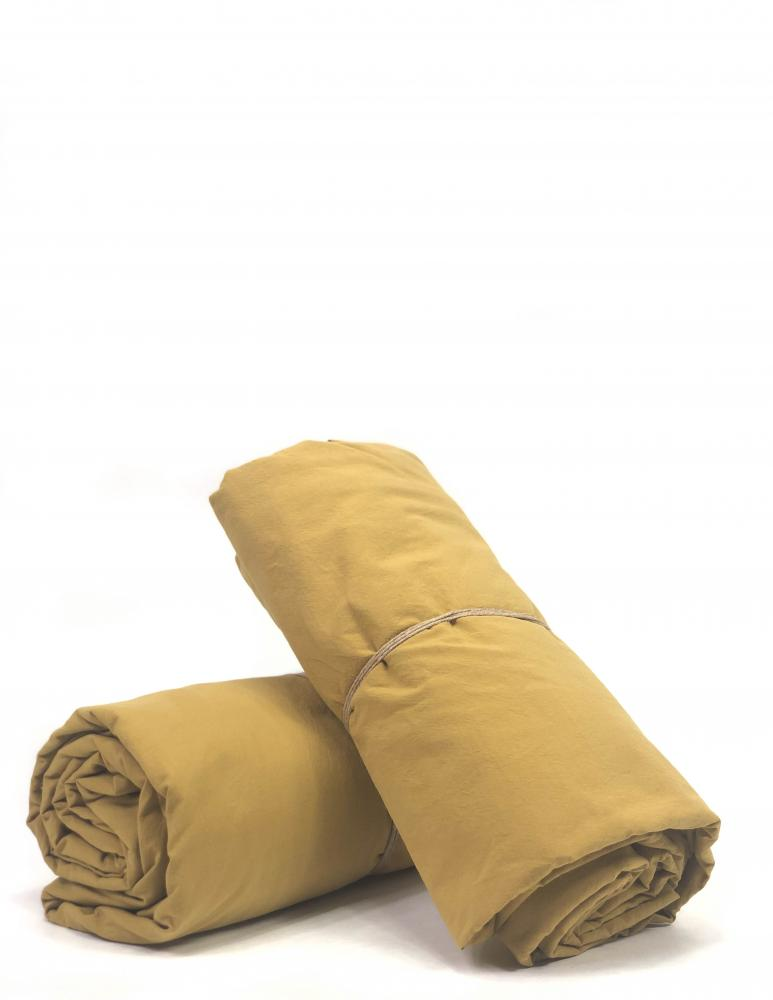 Sheets Crinkle Mustard Gold