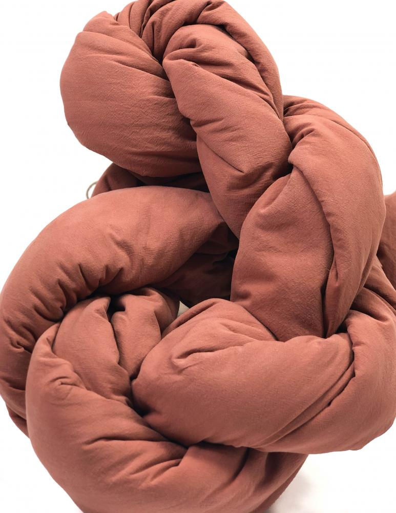 Påslakanset Crinkle Terracotta