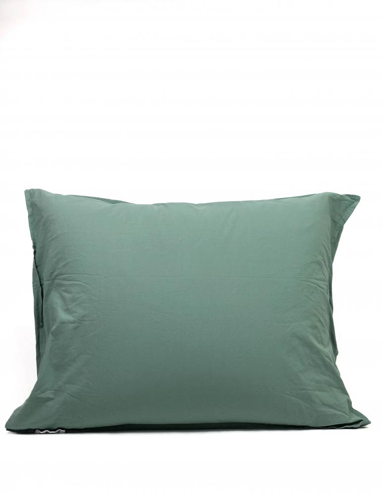 50x60cm Pillowcase Crinkle Mineral Green