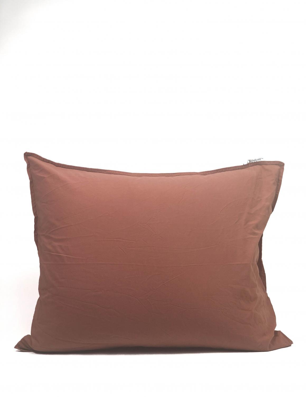 50x60cm Pillowcase Crinkle Terracotta