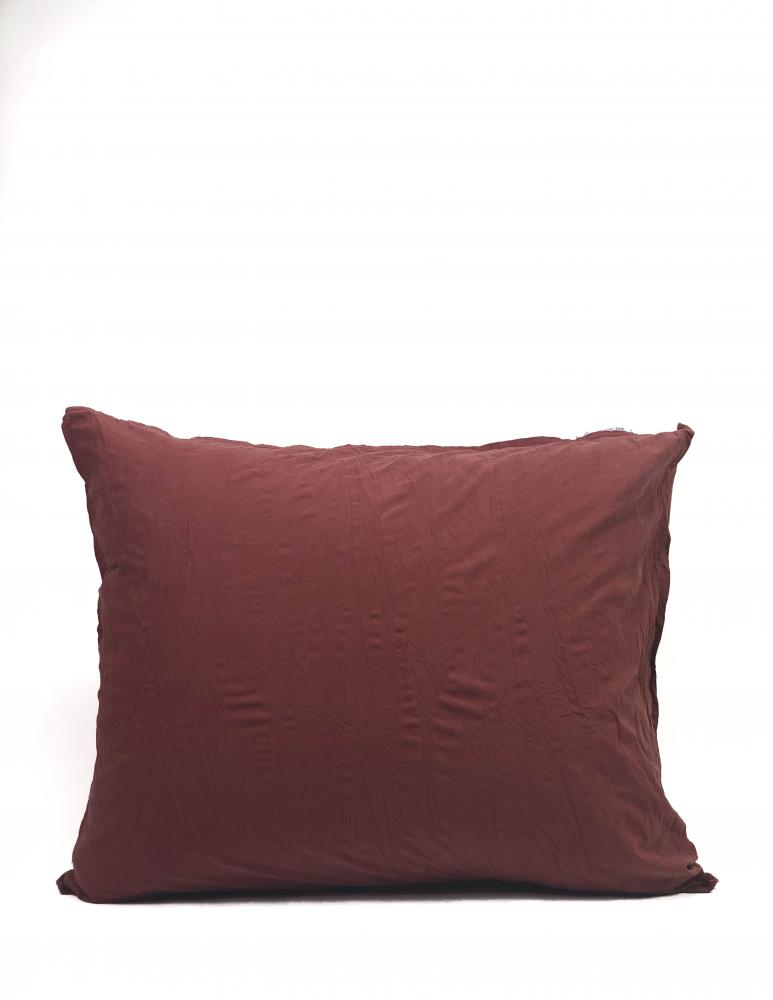 50x60cm Pillowcase Crinkle Burgundy