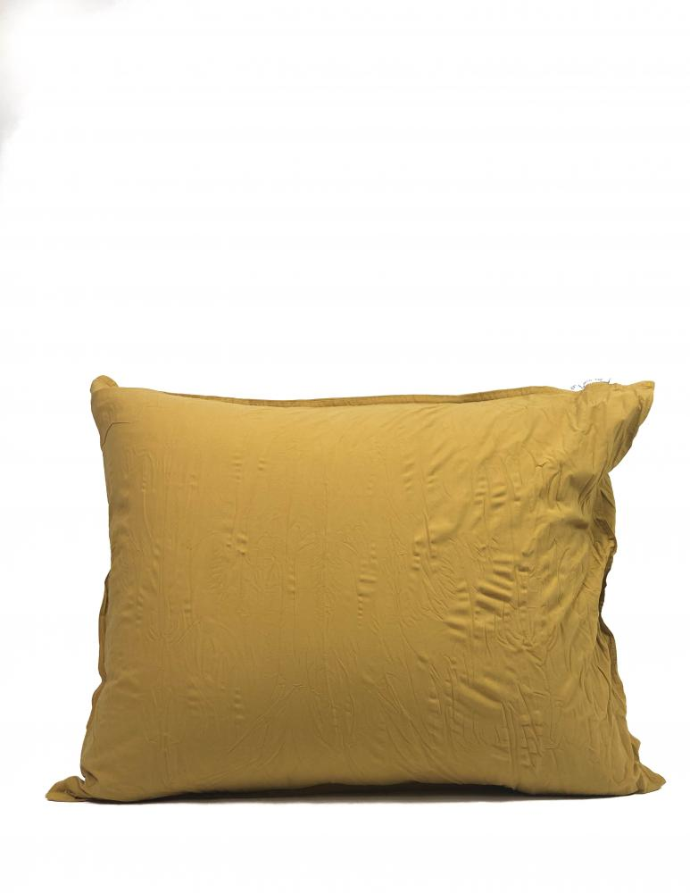 50x60cm Pillowcase Crinkle Mustard Gold