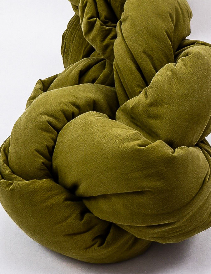 Duvet Cover Set Crinkle Olive Green