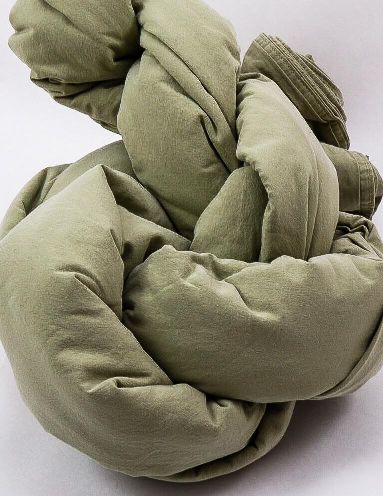 Duvet Cover Set Crinkle Green