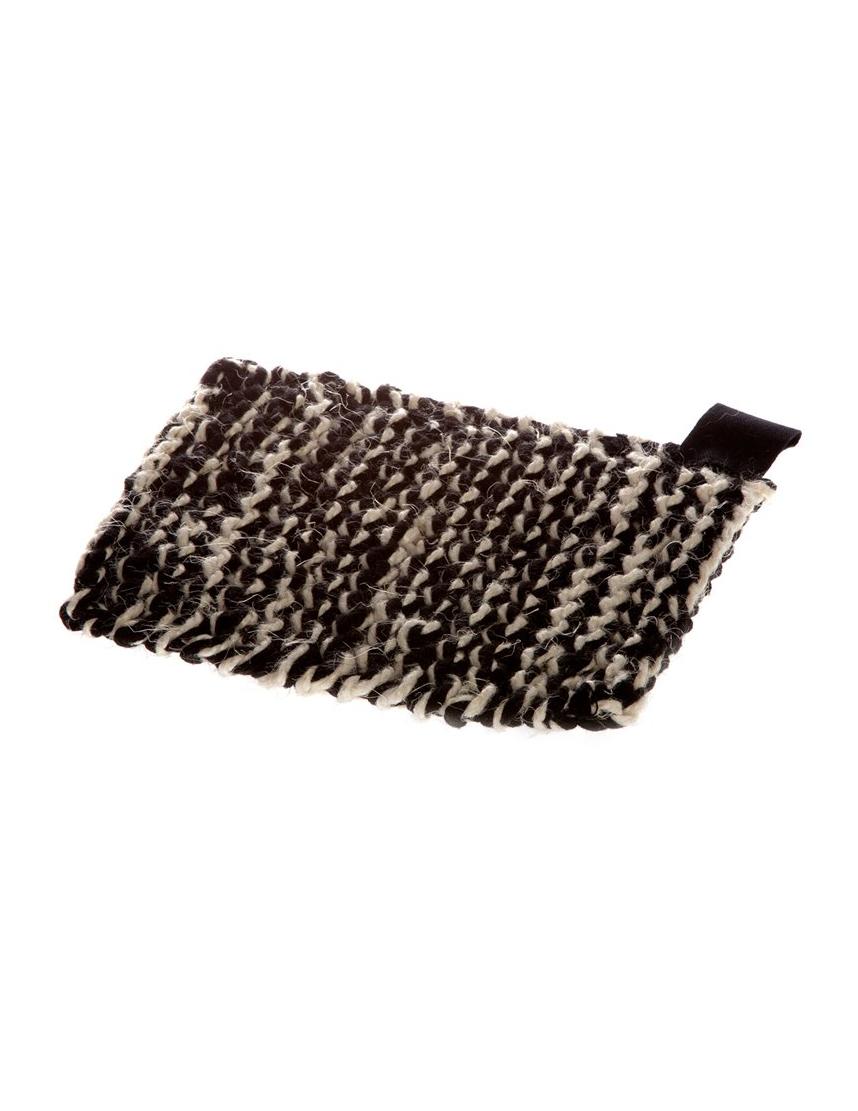Potholder Black/White Linen/Cotton