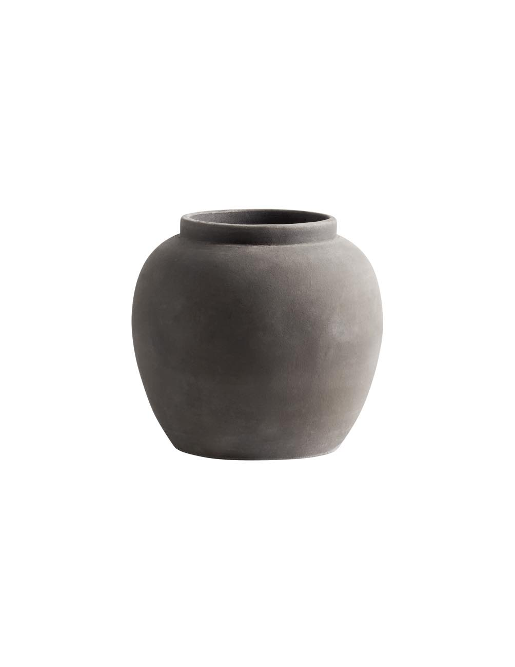 Large Smoke Clay Vase