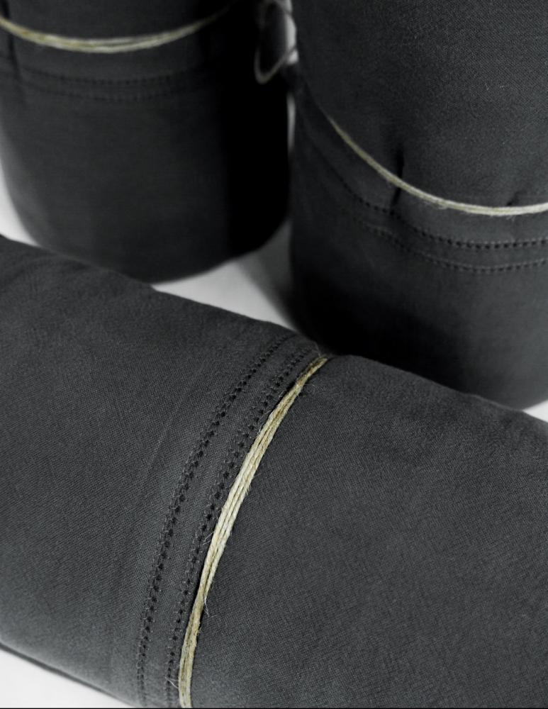 Duvet Cover Set Karin Dark Grey