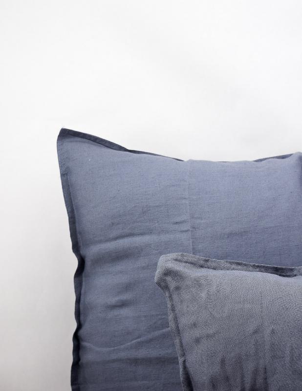 Kuddfodral Linne Dusty Blue 50x50cm