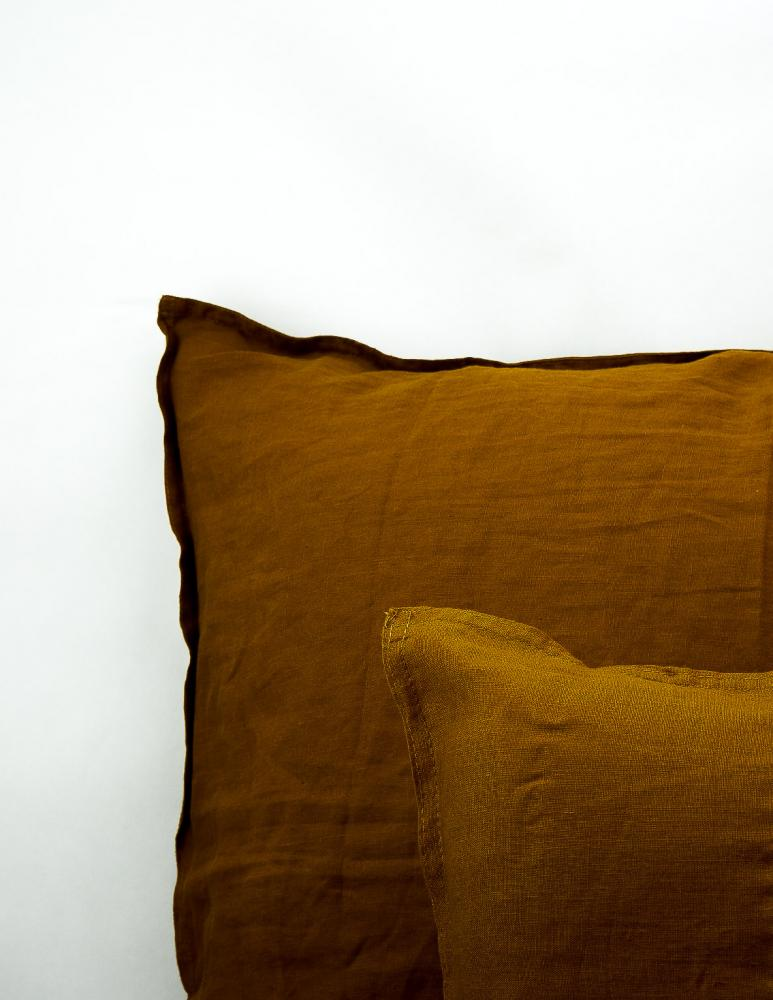 Cushion Cover Linen Dark Brown