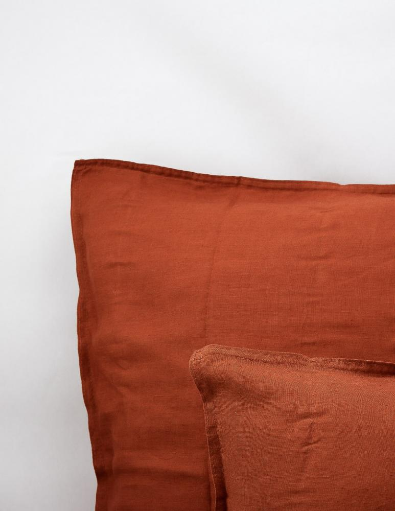 Cushion Cover Linen Rust