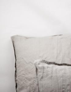 Kuddfodral Linne Light Grey
