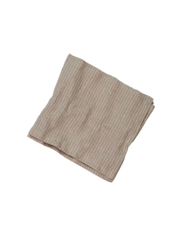Kitchen Towel Linen Pinstripe Natural/White