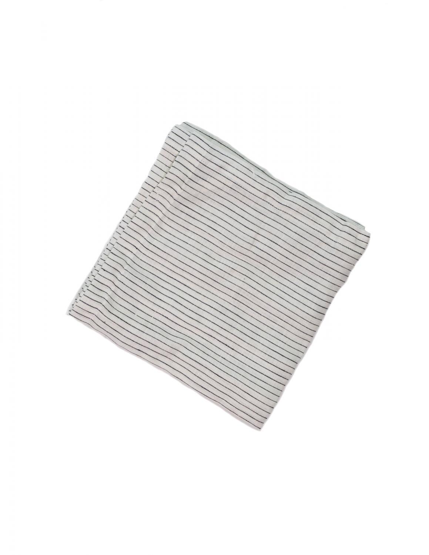 Kitchen Towel Linen Pinstripe White/Grey