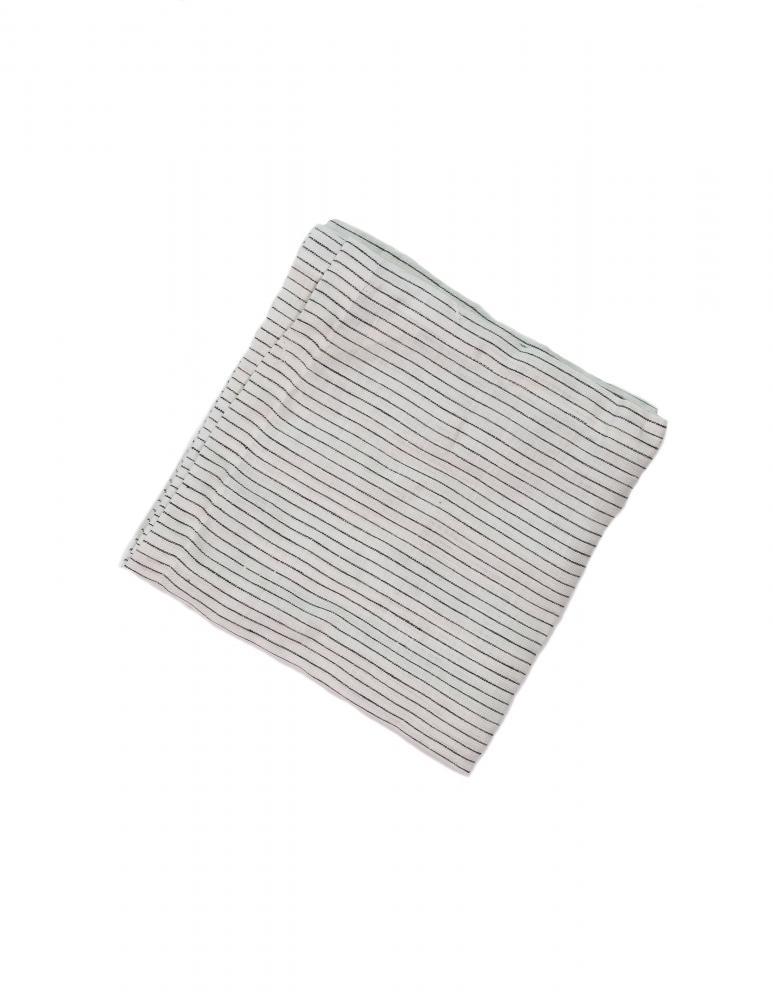 Kökshandduk Linne - Pinstripe White/Grey
