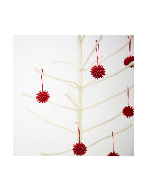 Red Cone Mini Christmas Ornament 6-pack