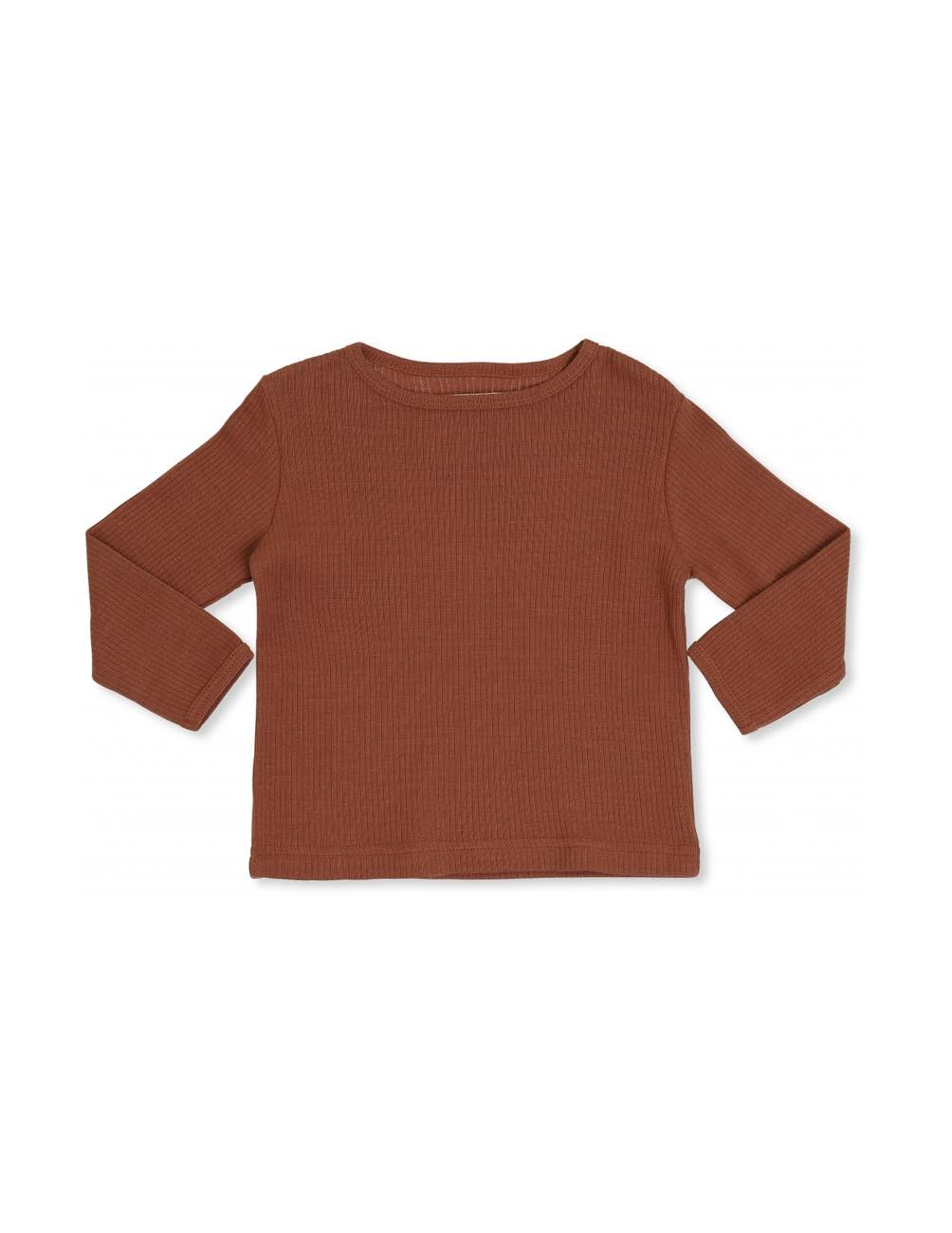 Kaya Långärmad T-shirt Roströd