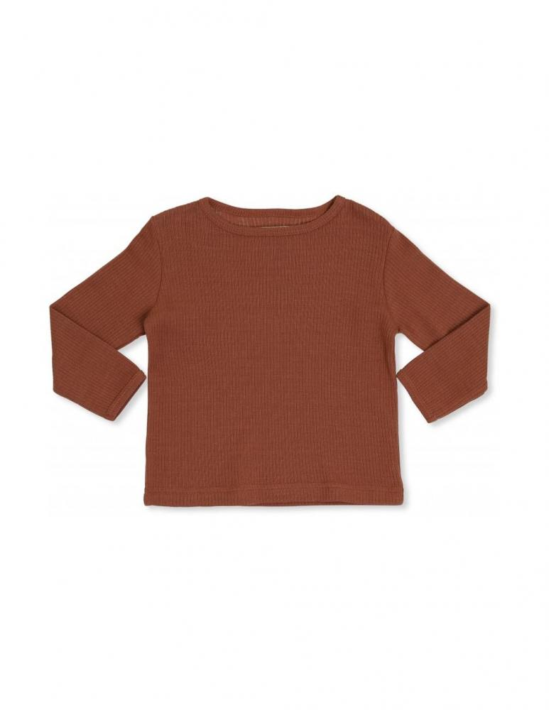 Kaya Long Sleeve T-shirt Rust Red