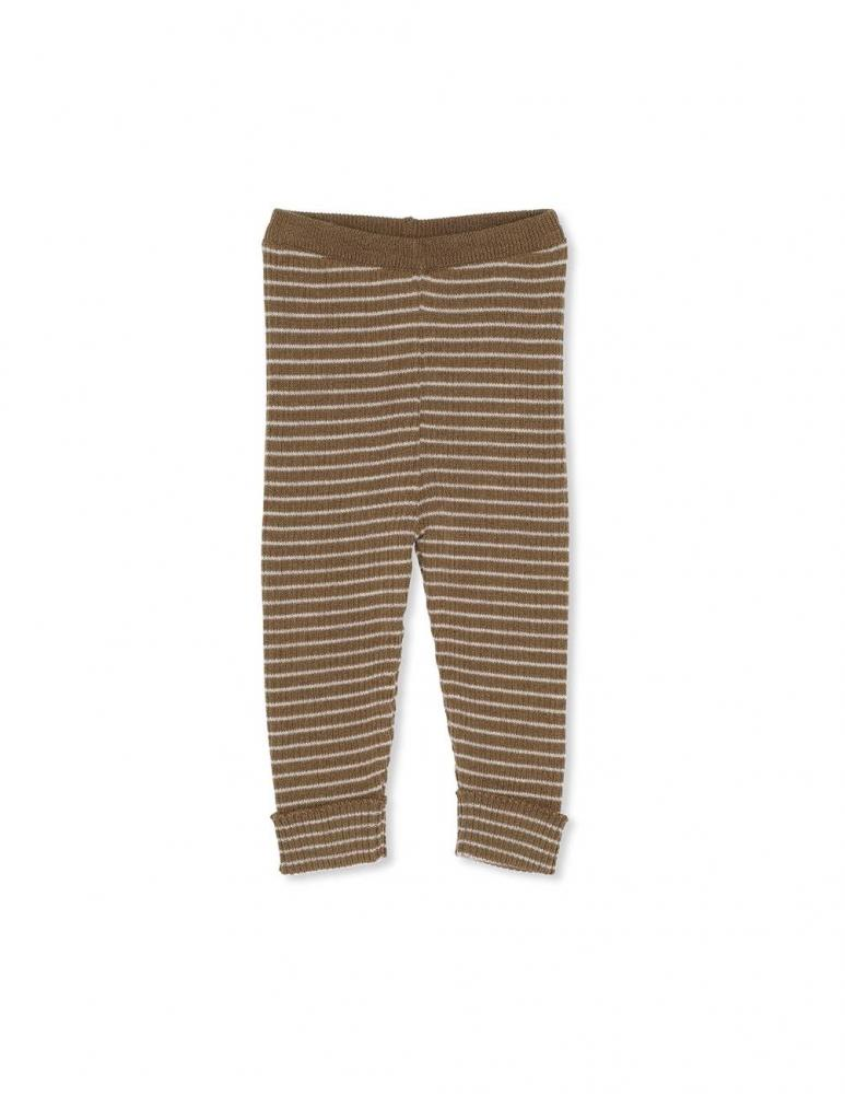 Meo Knit Pants Olive/Beige