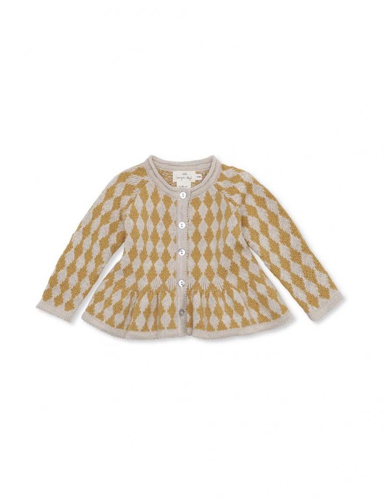 Meomi Knit Cardigan Harlekin Yellow Mustard