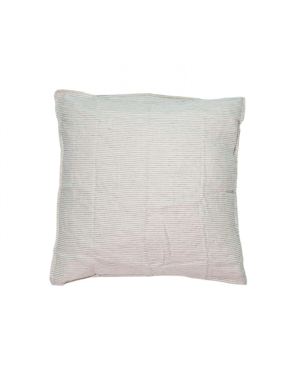 Cushion Cover Linen Pinstripe White/Grey